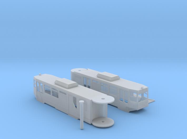 n scale 1:160 lrv siemens Sd100 san diego trolley 3d printed