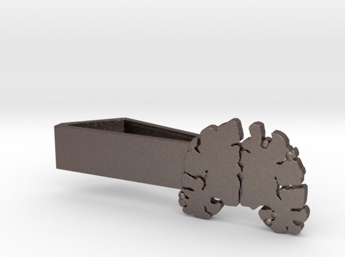 "Brain Tie Bar - 1-3/8"" (Skinny) 3d printed"