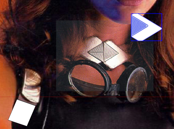 Mara Jade - Cape Clasp (Decipher) V2 3d printed Original Photo from Star wars Insider Issue #47 Designed to be the most accurate Clasp out there