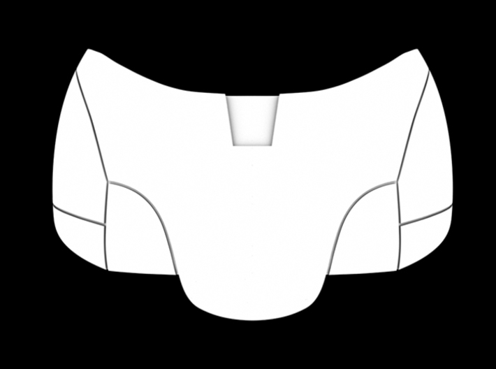 Iron Man Pelvis Armor, Back Right (Part 4 of 5) 3d printed CG Render (Back)