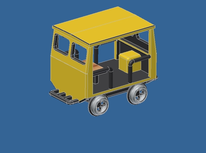z Gauge 1:220 Fairmont Speeder Typ 1  3d printed Add a caption...
