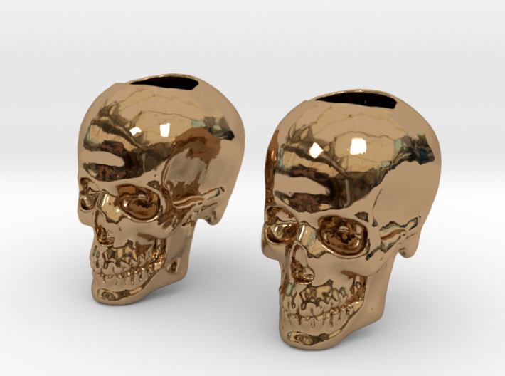 Skull Bead Doubled 3d printed