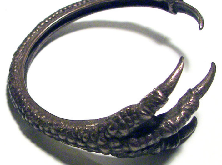 3D Printed Dragon Claw Bracelet 3d printed 3D Printed Polished Bronze Steel