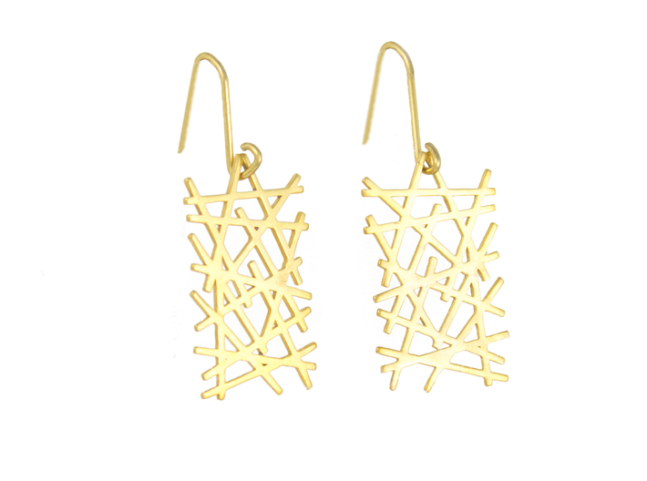 LINES LITE EARRINGS 3d printed