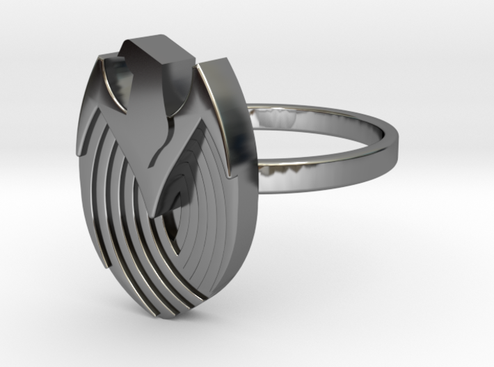 Art Deco Eagle Ring - Size N 3d printed
