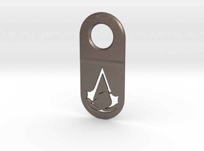 Assassin Unity Keychain Pendant (Hollow) 3d printed
