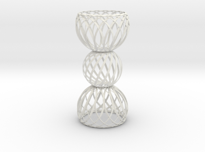 Spiral Globe Column Double Curved Top and Bottom 3d printed