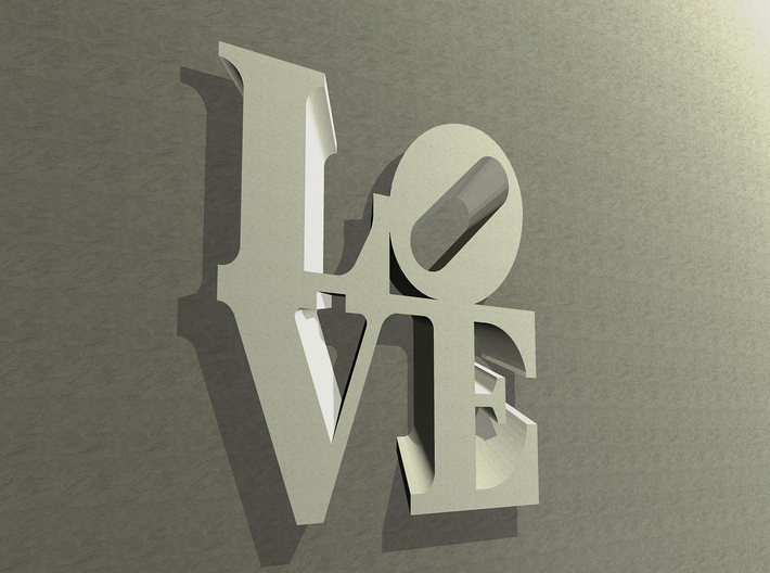 The Love Sculpture Wall decoration 18cm 3d printed
