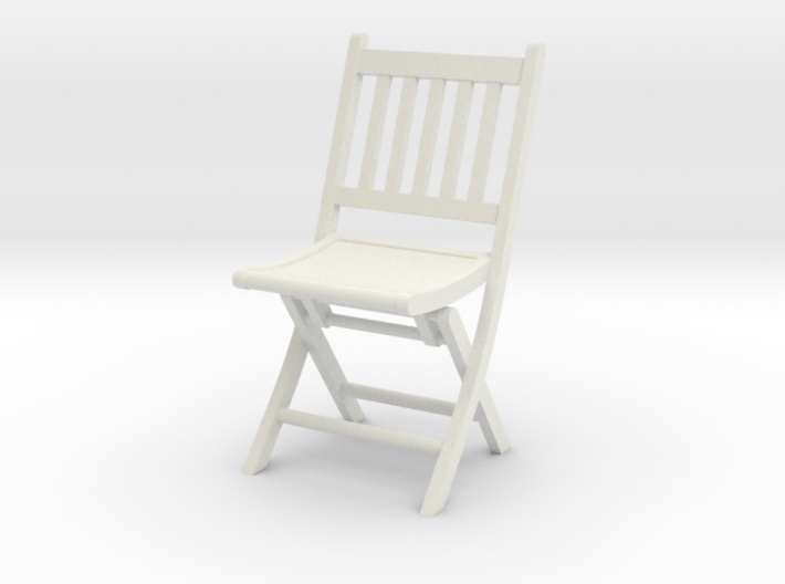 1:24 Wood Folding Chair 3d printed