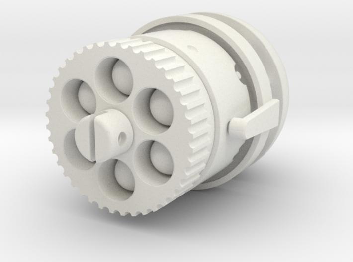 Steampunk  miniature Gun Barrel 'Fixed Version' 3d printed