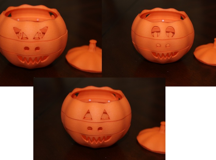 Dial-O-Lantern 3d printed Three of the Twenty-Seven Face Configurations