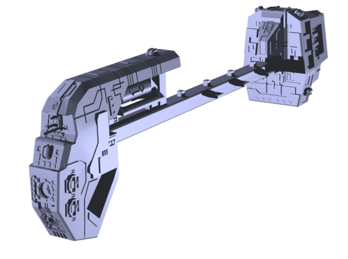 """Somtaaw """"Explorer"""" Command Ship 3d printed"""