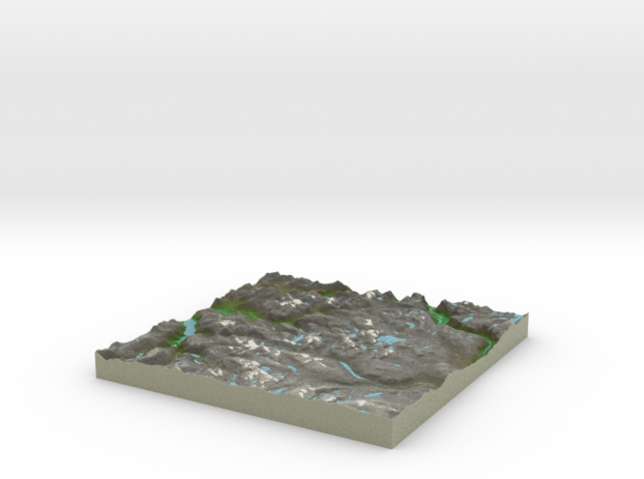 Terrafab generated model Mon Oct 06 2014 10:03:29 3d printed