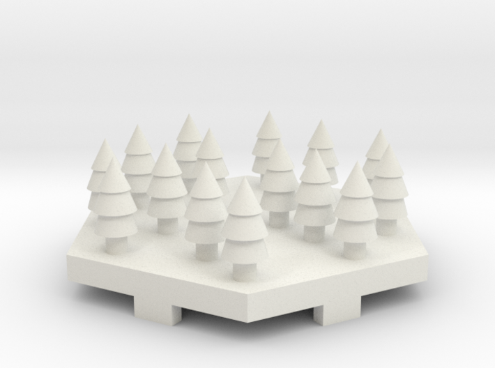 Snowy Forrest Tile 3d printed