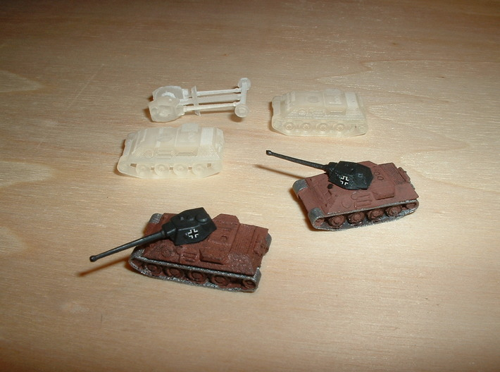 VK 30.02 DB Medium Tank Protype 1/285 6mm 3d printed