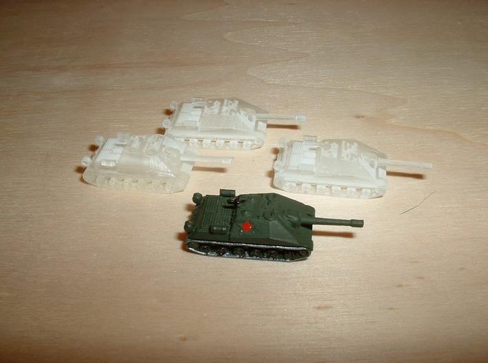 ISU-152 Object 704 Assault Gun 1/285 6mm 3d printed
