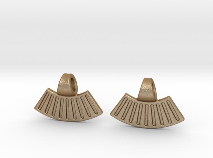 Sun Earrings 3d printed