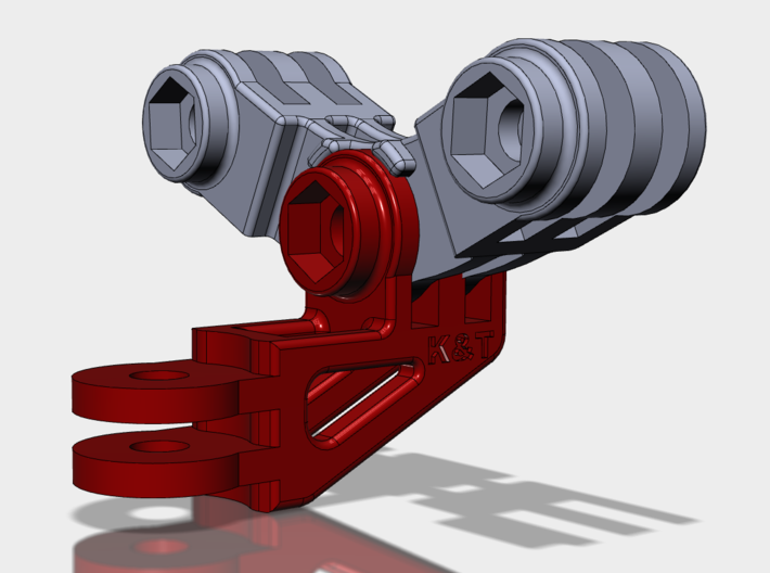 The Forward Backward Gemini mount 3d printed Combined with the Long Elbow