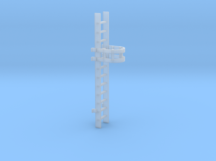 'N-Scale' - 10' Caged Ladder 3d printed