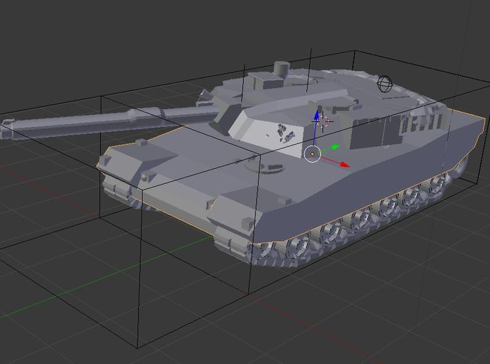 N Scale South Korean K1A1 Tank 3d printed A render of the assembled model