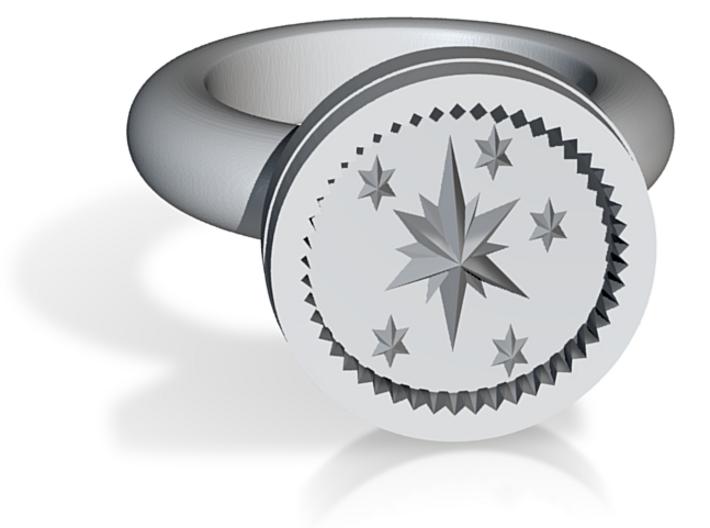 Twilight Sparkle Signet Ring 3d printed