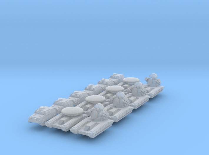 """""""Team Falchion"""" 3mm Tracked HQ Group (14 Pcs) 3d printed"""