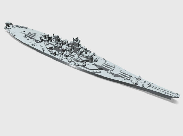 WWII US 1/4800 Iowa class battleships (x4) 3d printed USS New Jersey BB62