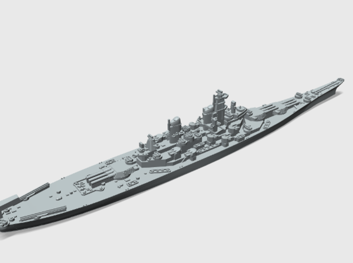 WWII US 1/4800 Iowa class battleships (x4) 3d printed USS Wisconsin BB64