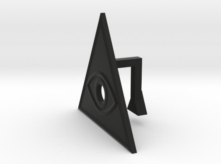 Eye of the Illuminati webcam blocker 3d printed