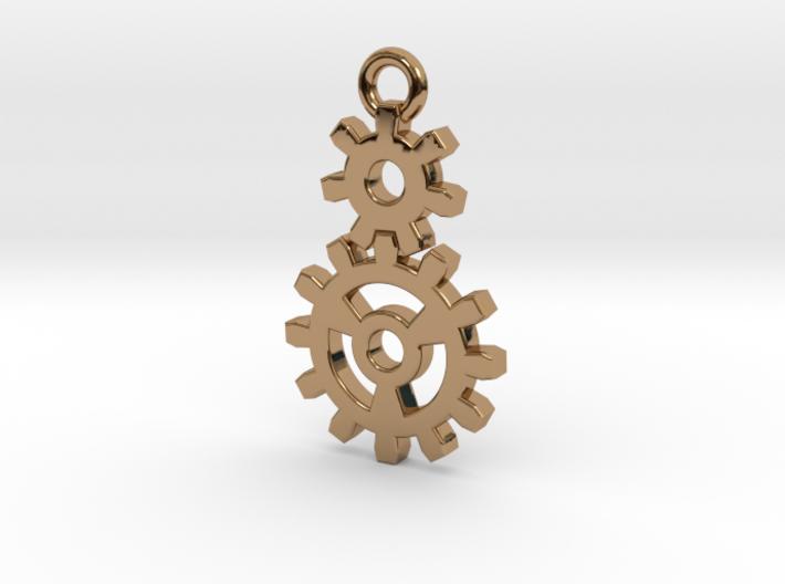 2 Gear Steampunk Pendant 3d printed