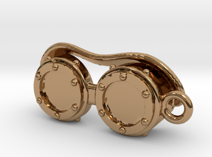 Steampunk Goggles Charm/Pendant 3d printed