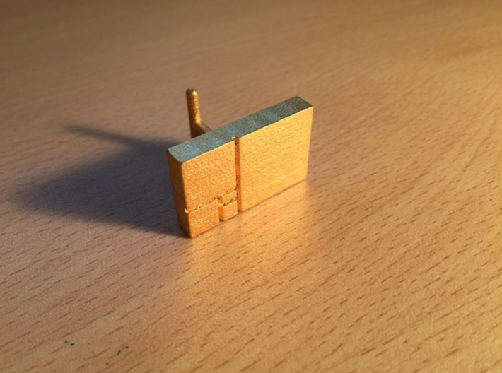 Golden Rectangle Cufflinks 3d printed