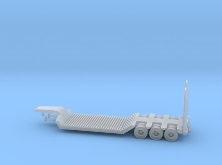 Semi Trailer Heavy Duty Z Scale 3d printed 40 ft. low Boy Trailer Z scale