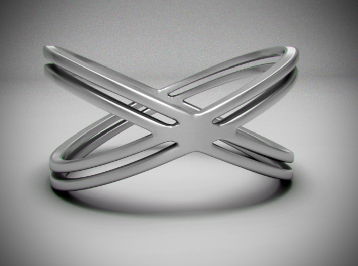 The X Ring 3d printed 3d render