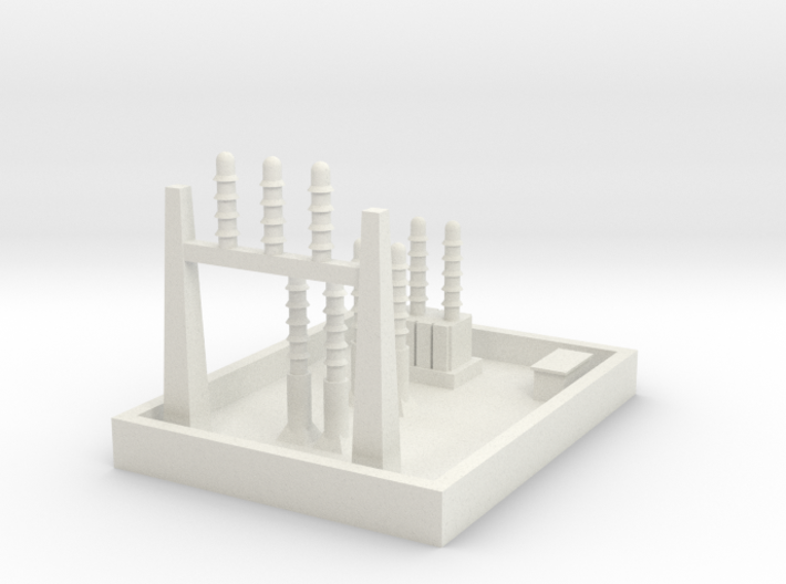 1/600 Small Power Substation 3d printed