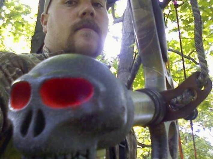 "Skull For 1"" Archery Bow Stabilizer 3d printed In action"