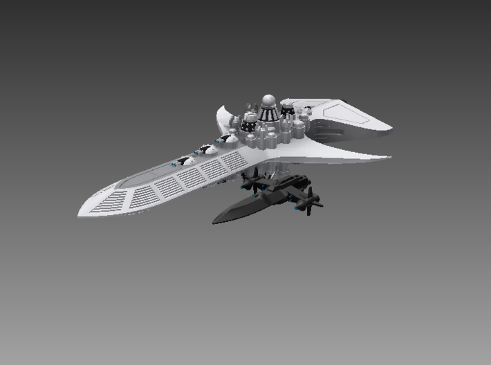 1/10 000 Chuyinka Escort Destroyer 3d printed The Raven-class compared to the Integral-class.