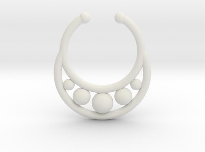 Faux Septum Ring - peapod 3d printed