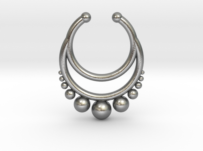 Septum dropped ring with spheres under 3d printed