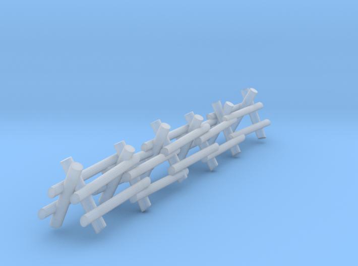 2 Rail A Frame Fence 3d printed