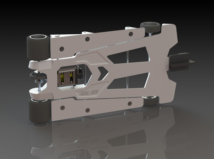 "888sr-xl (1/24 ""spec racer"" slot car chassis 4.5"") 3d printed"