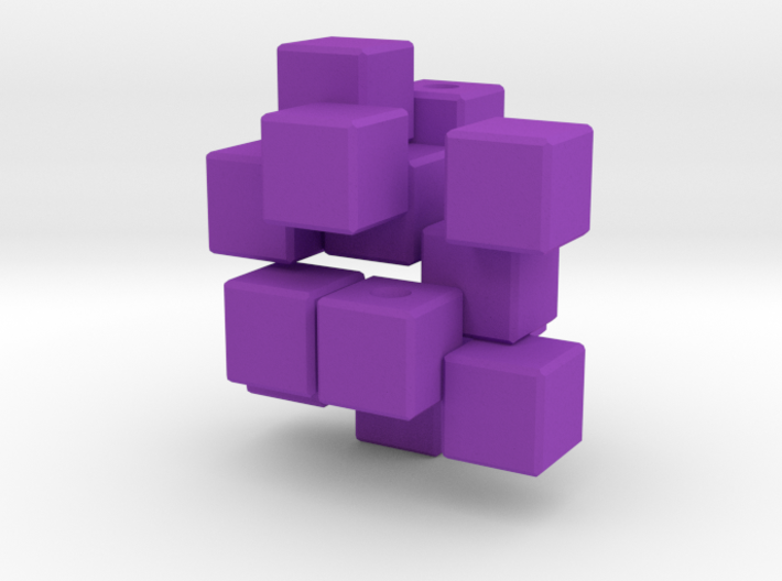 QBurr Keychain Puzzle 3d printed