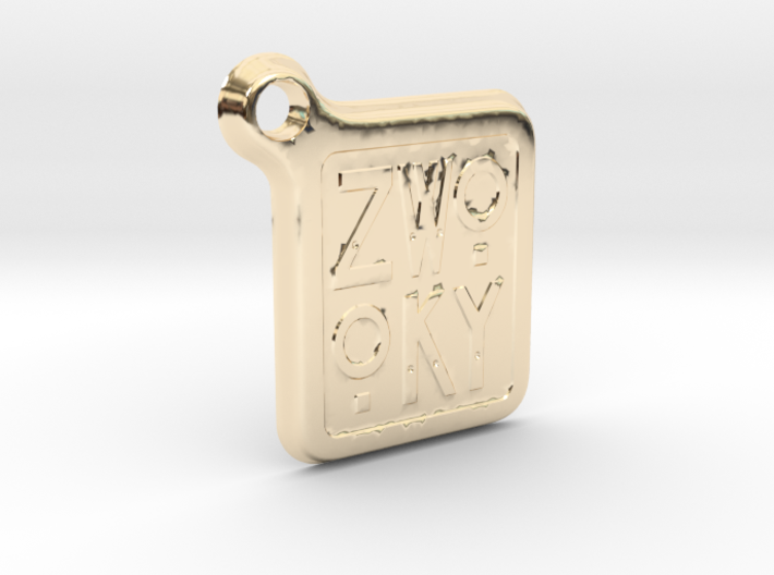 ZWOOKY Keyring LOGO 12 4cm 3mm rounded 3d printed