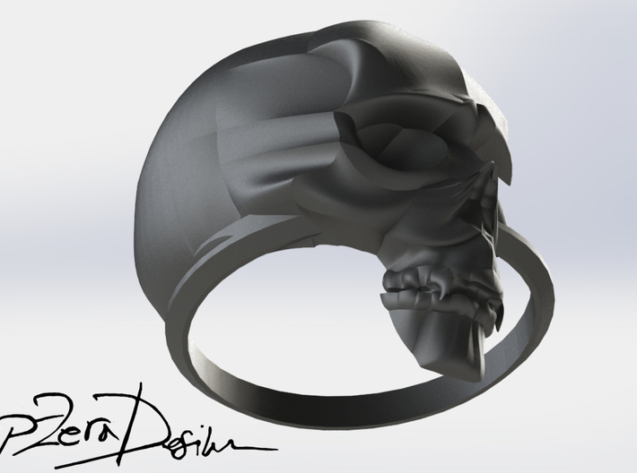 SKULL RING SIZE 8.5 3d printed
