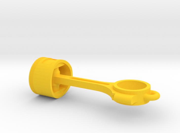 Piston pendant 3d printed
