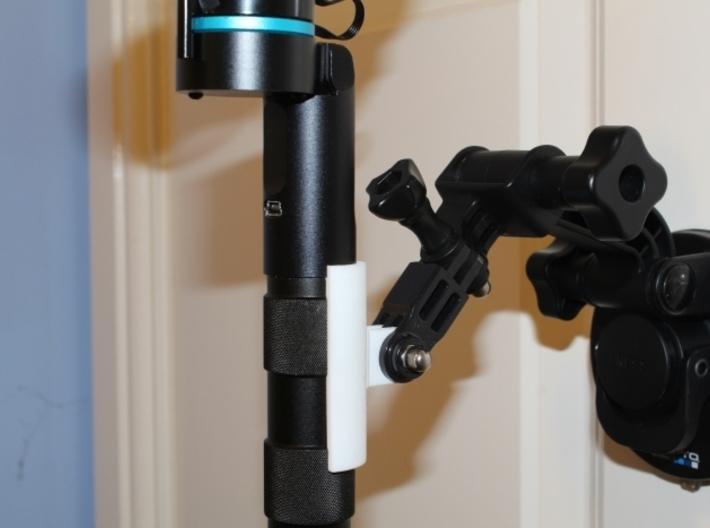 Feiyu-Tech G3 Ultra Handheld - GoPro Mount 3d printed Clip holds the G3 Ultra very securely