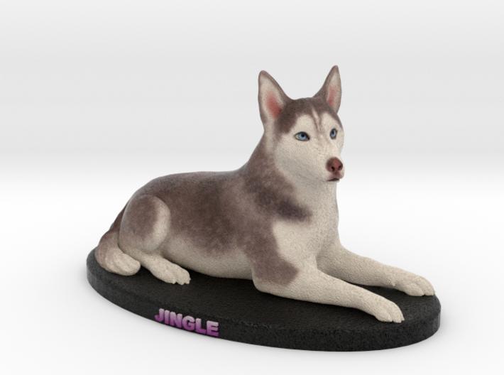 Custom Dog Figurine - Jingle (Lying) 3d printed
