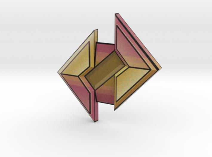 Stone Badge 3d printed