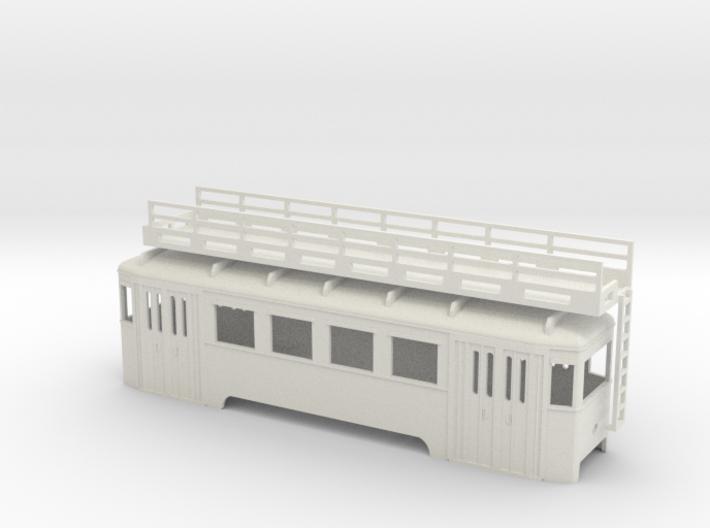 nt Wiener Stadtbahn Arbeitsbeiwagen mit Gerüst 3d printed