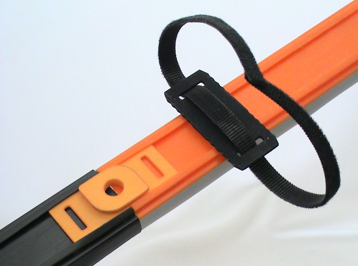 Strap Hot Wheels Track Anywhere 3d printed Connect two tracks, or support track anywhere.